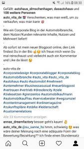 Instagram im Autohaus!