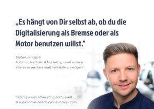 Stefan Jentzsch Automobilvertrieb und Marketing mal anders